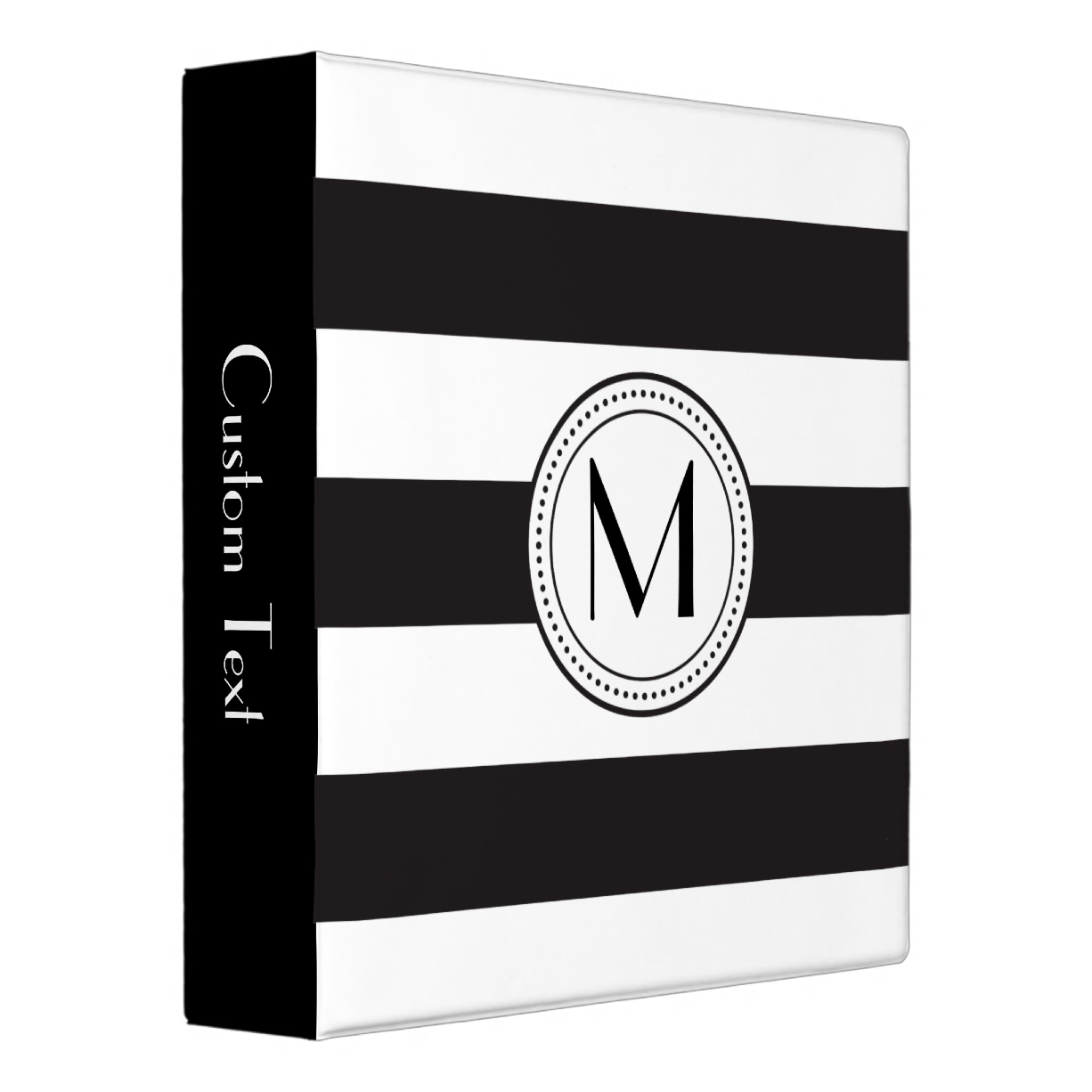 Monogram Stripes Binder