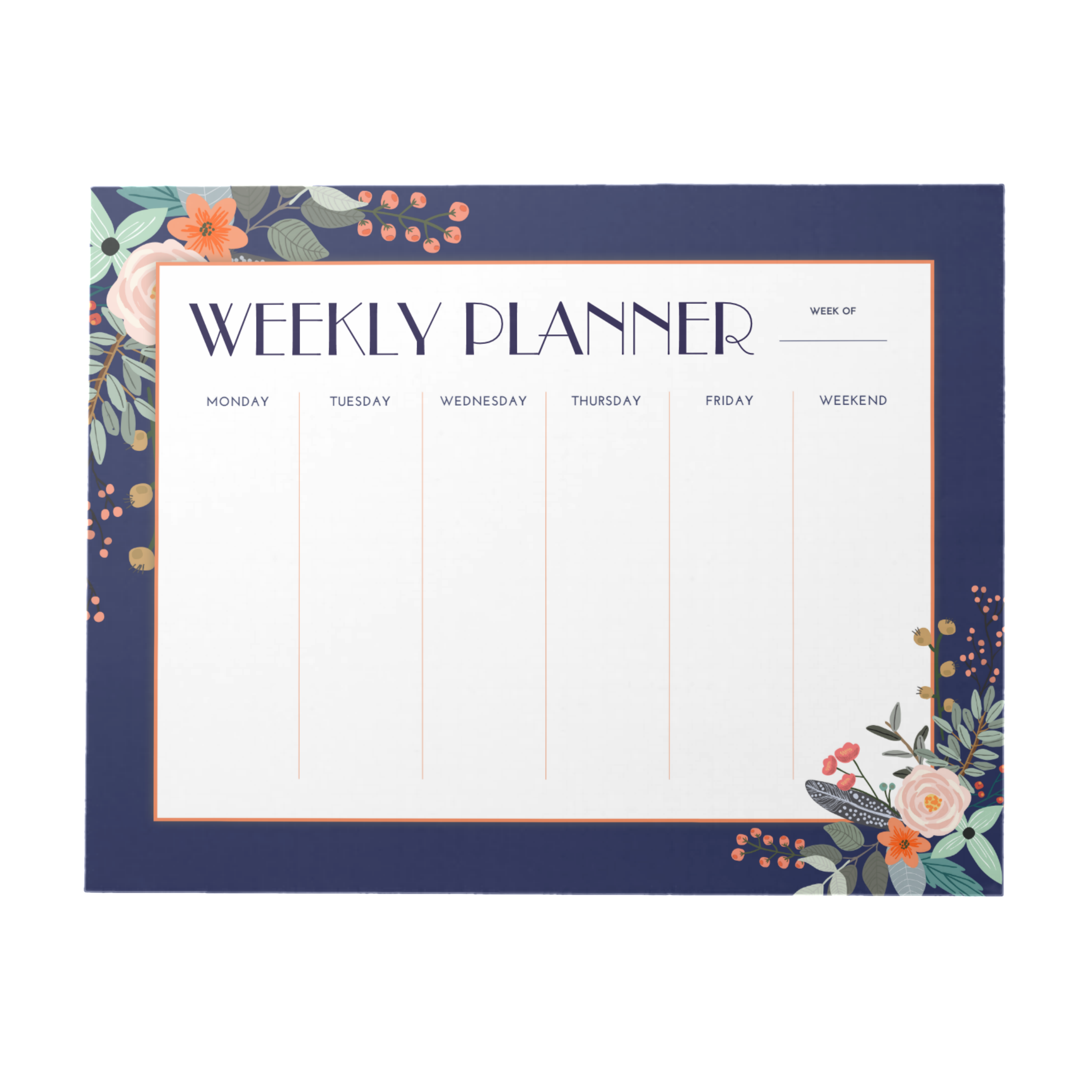 Botanical Weekly Planner | 40 Pages