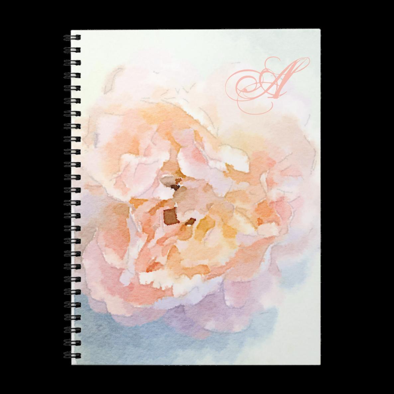 Monogram Peony Notebook