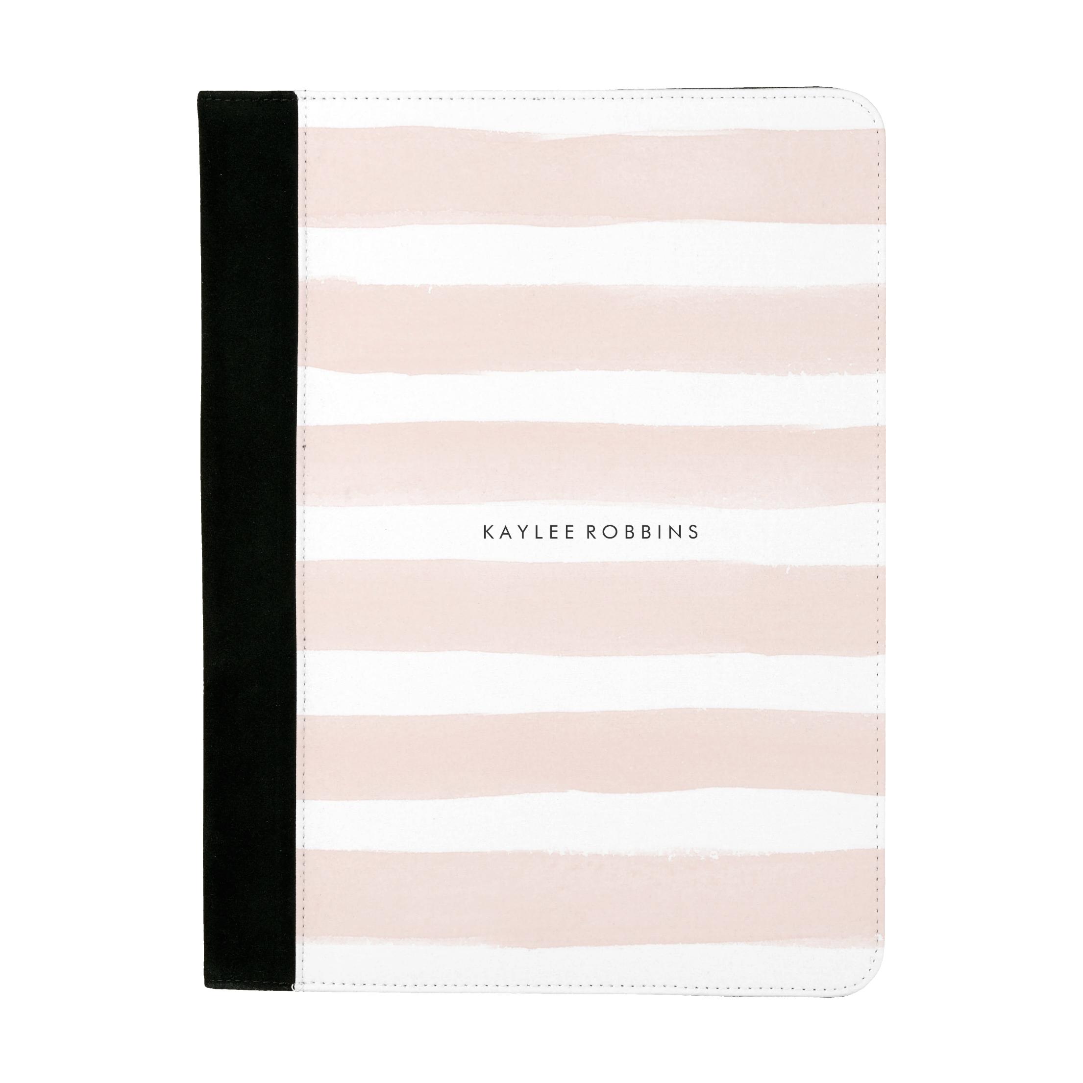 Pink Stripe Padfolio