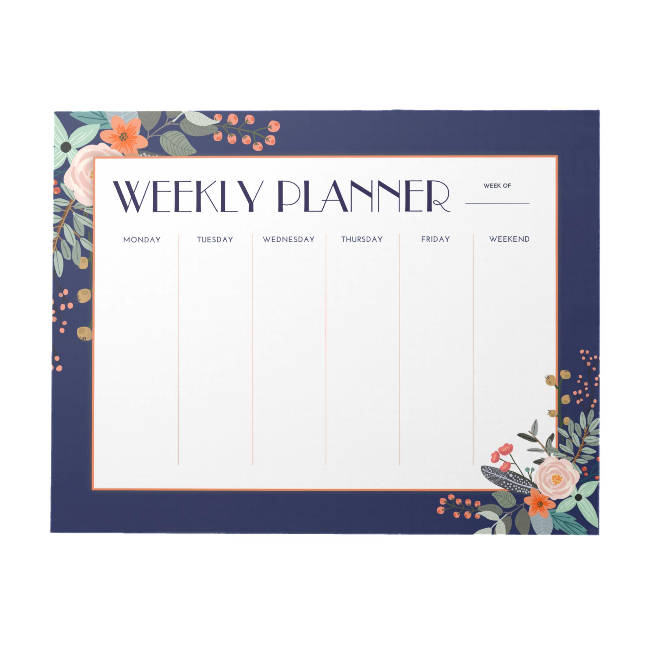 Monogram Botanical Weekly Planner