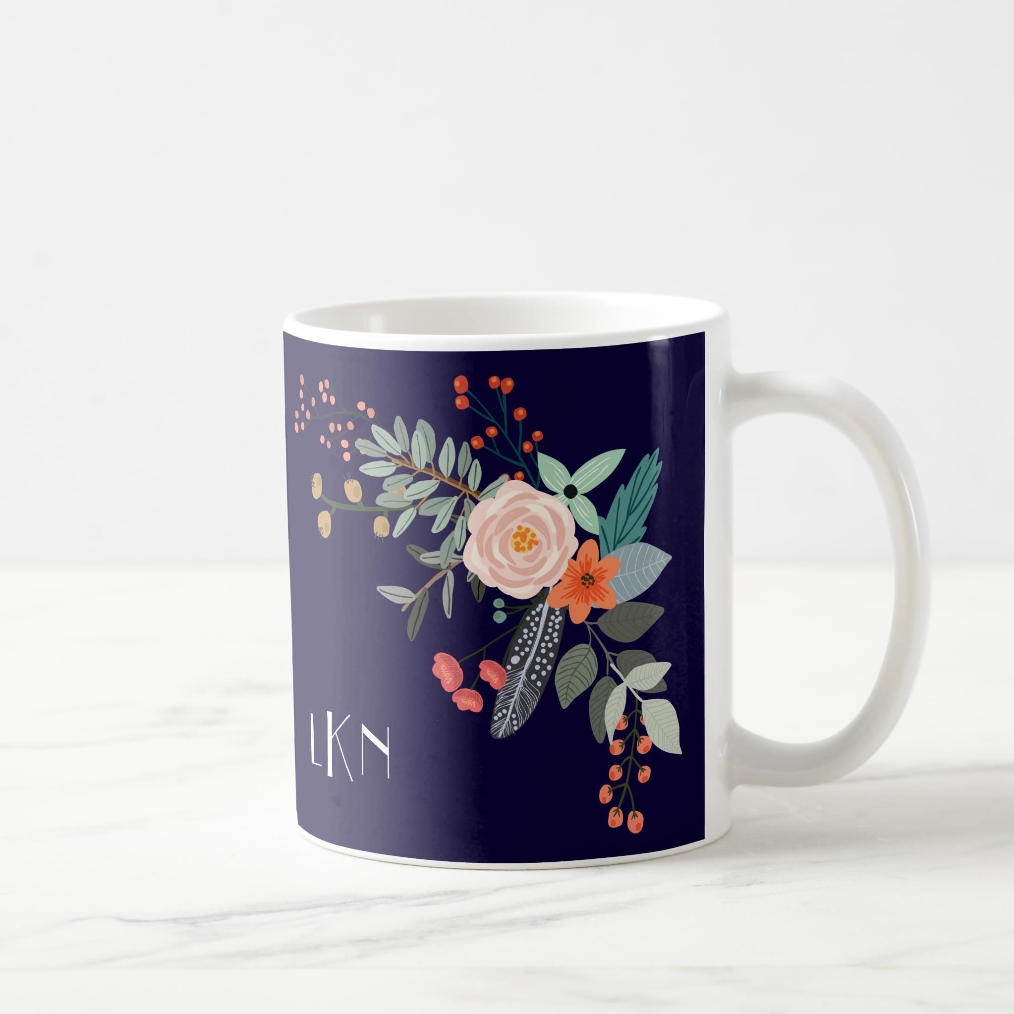 Monogram Botanical Mug