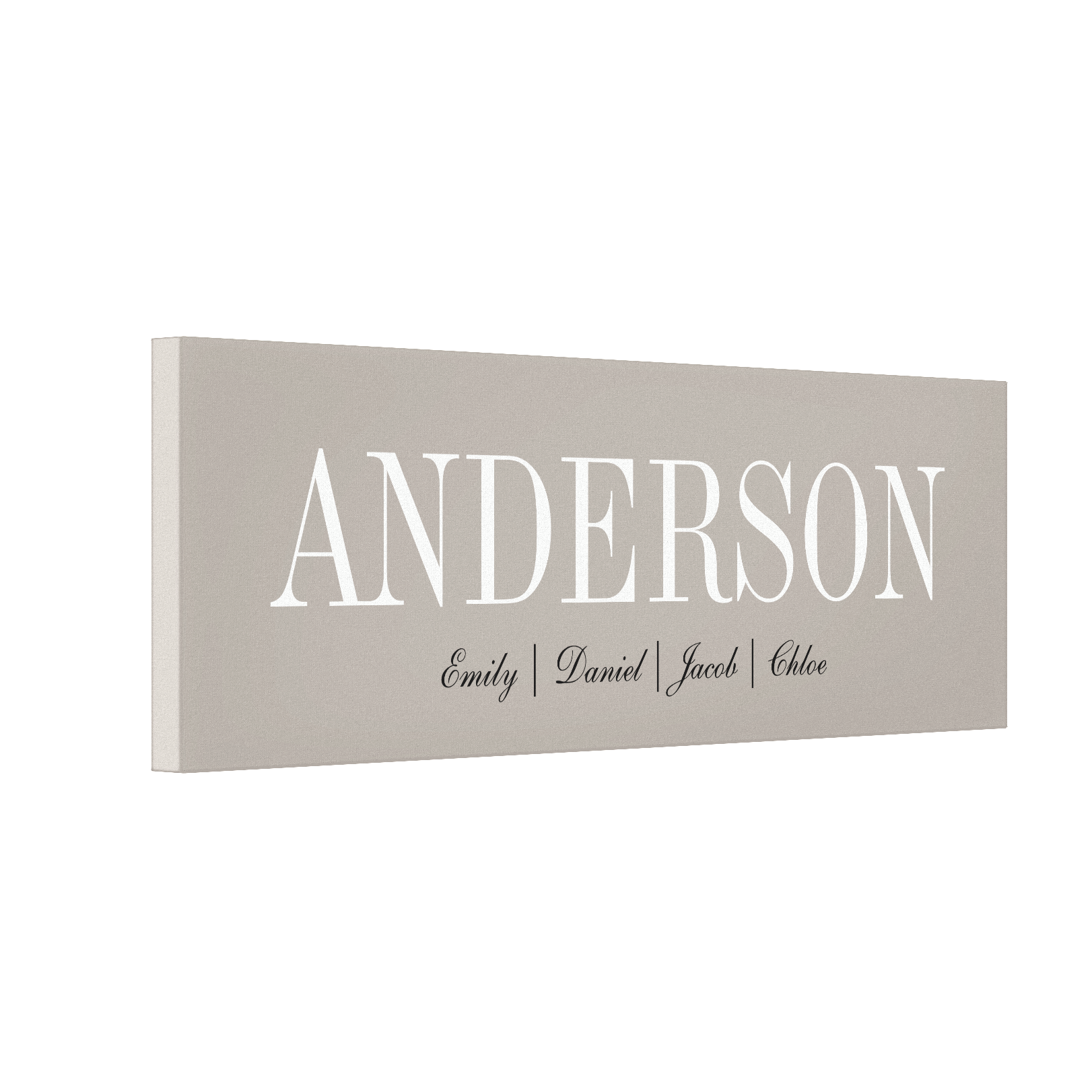 Names Personalized Canvas