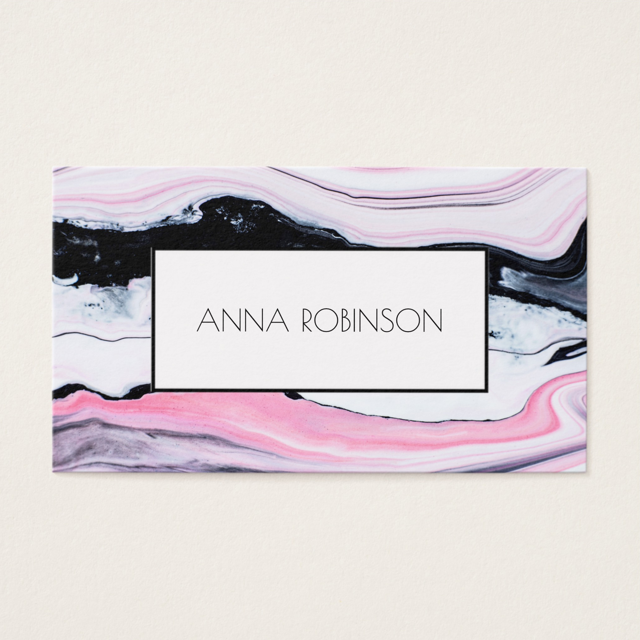 Pink Marble Business Card