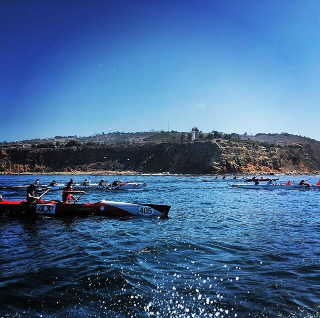 Twenty plus miles. Ten canoes. Two escort boats. Ocean full of strong women. Catalina we are coming for you!
