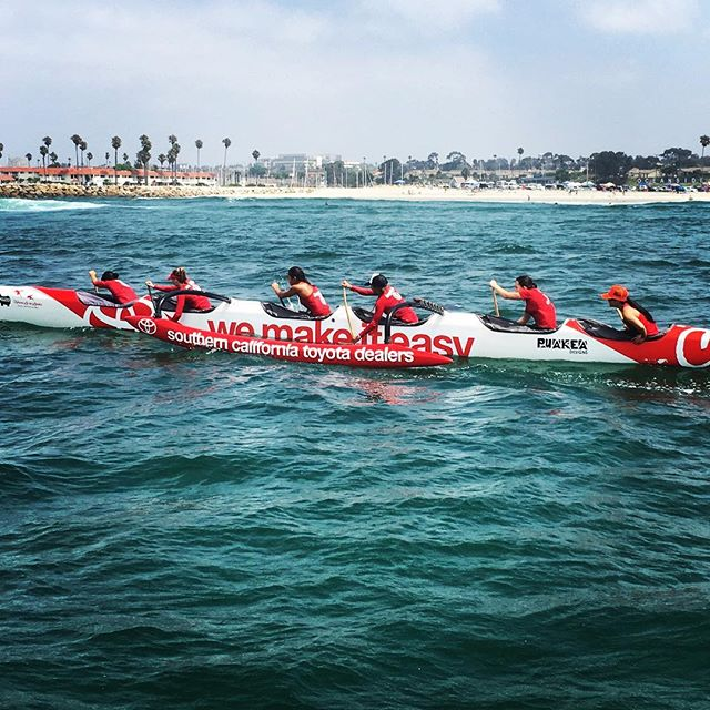Come join us this weekend at #fiestahermosa and sign up to get in a canoe to learn to paddle for free! Join our ohana as we team up with @toyotasocal and @404basecamp to keep summer going out on the water. Find us at the base of the #Hermosabeach pier and we'll lead you from there as #wemakeiteasy . Paddles Up! #toyotasocal #404basecamp @lanakila_occ