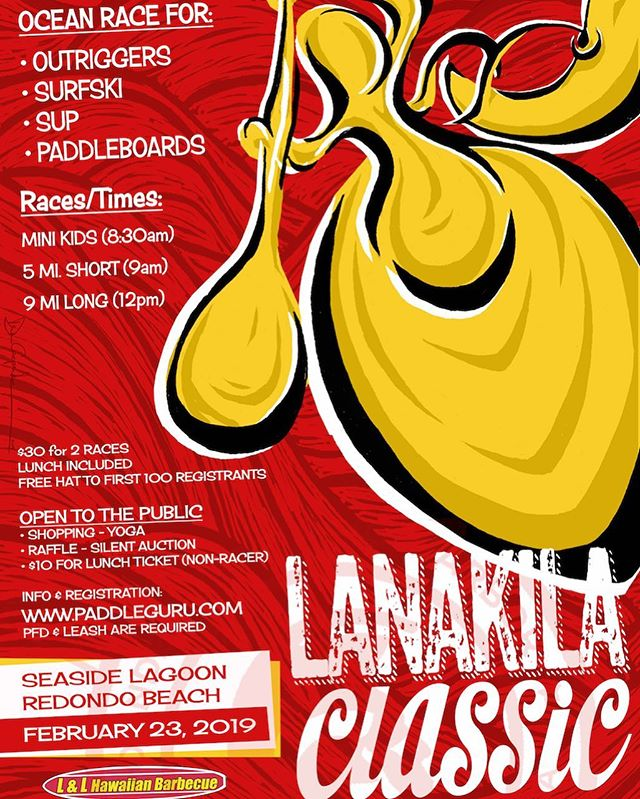 The Lanakila classic is finally here! Get your craft and come down to Redondo Beach Seaside Lagoon for a great day of racing / great music / a variety of booths / raffle / silent auction / and ono hawaiian food from @llhawaiianbbq  HURRY AND REGISTER ❗️(first 100 registrants get a free hat)  See you there!