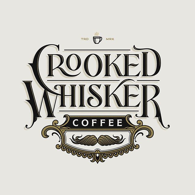 ☕️ Crooked Whisker Coffee logo and monogram