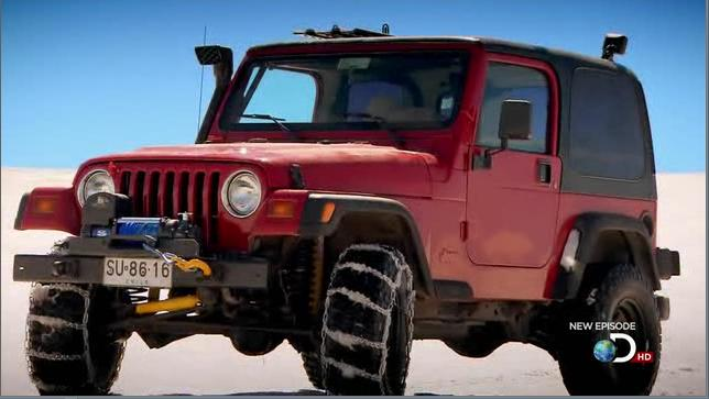 The ten year old Jeep is as much a star of the show as the other two. Photo courtesy of the Discovery Channel