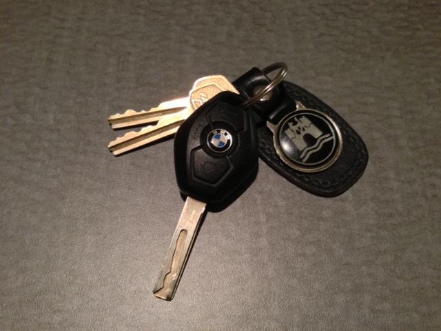 1980s Vintage leather Wolfsburg keychain