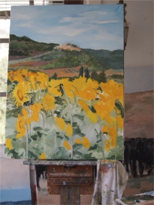 All you see here there are a few details on the sunflowers, but almost none on the stems and leaves.