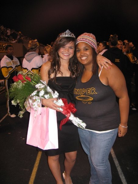 When Lauren was crowned homecoming queen senior year. Fall 2011
