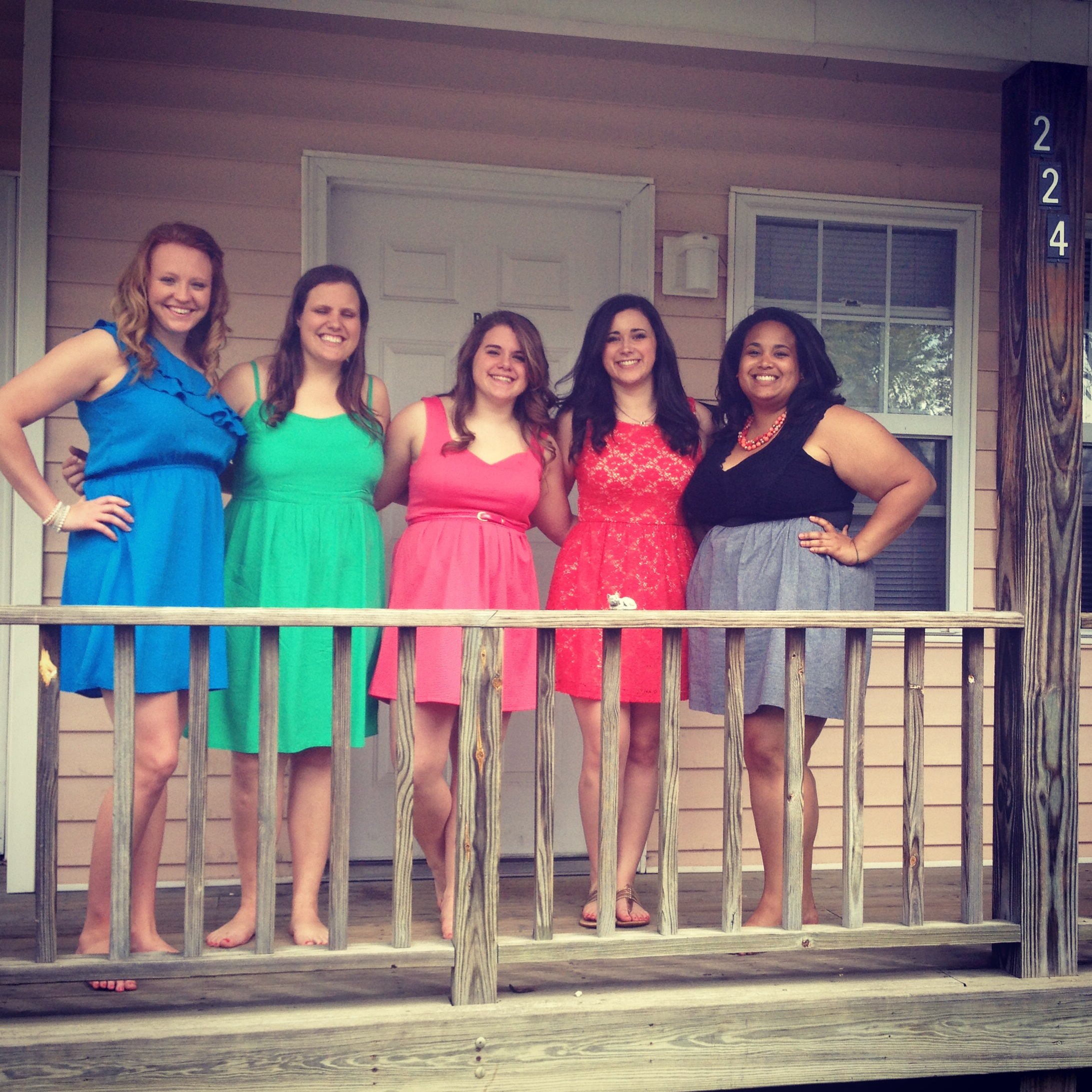 Almost all of The Pink House girls on graduation day. Just missing Nikki!