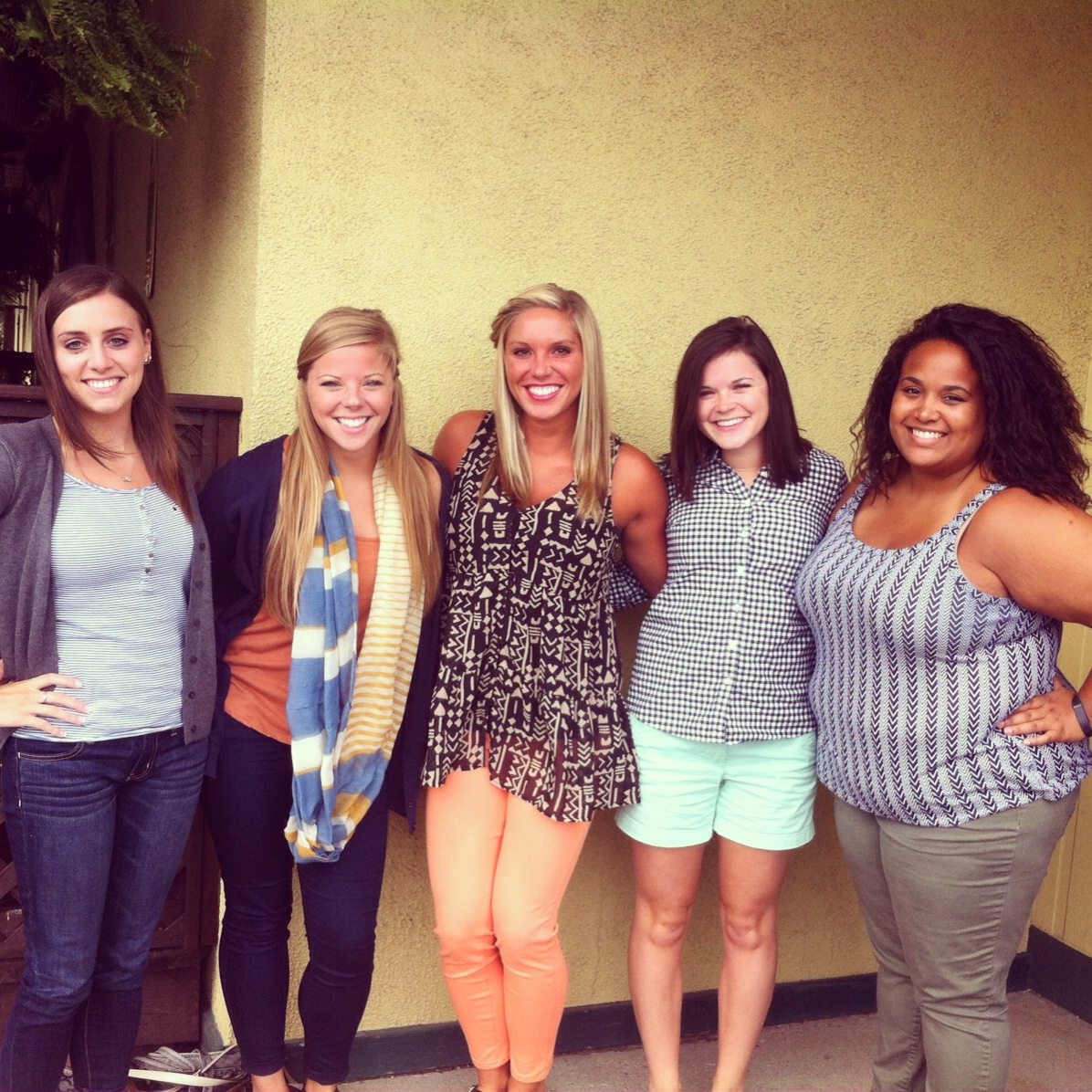 My best, best friends from high school! Just missing Kassie...it's been years since we've all been together at once.