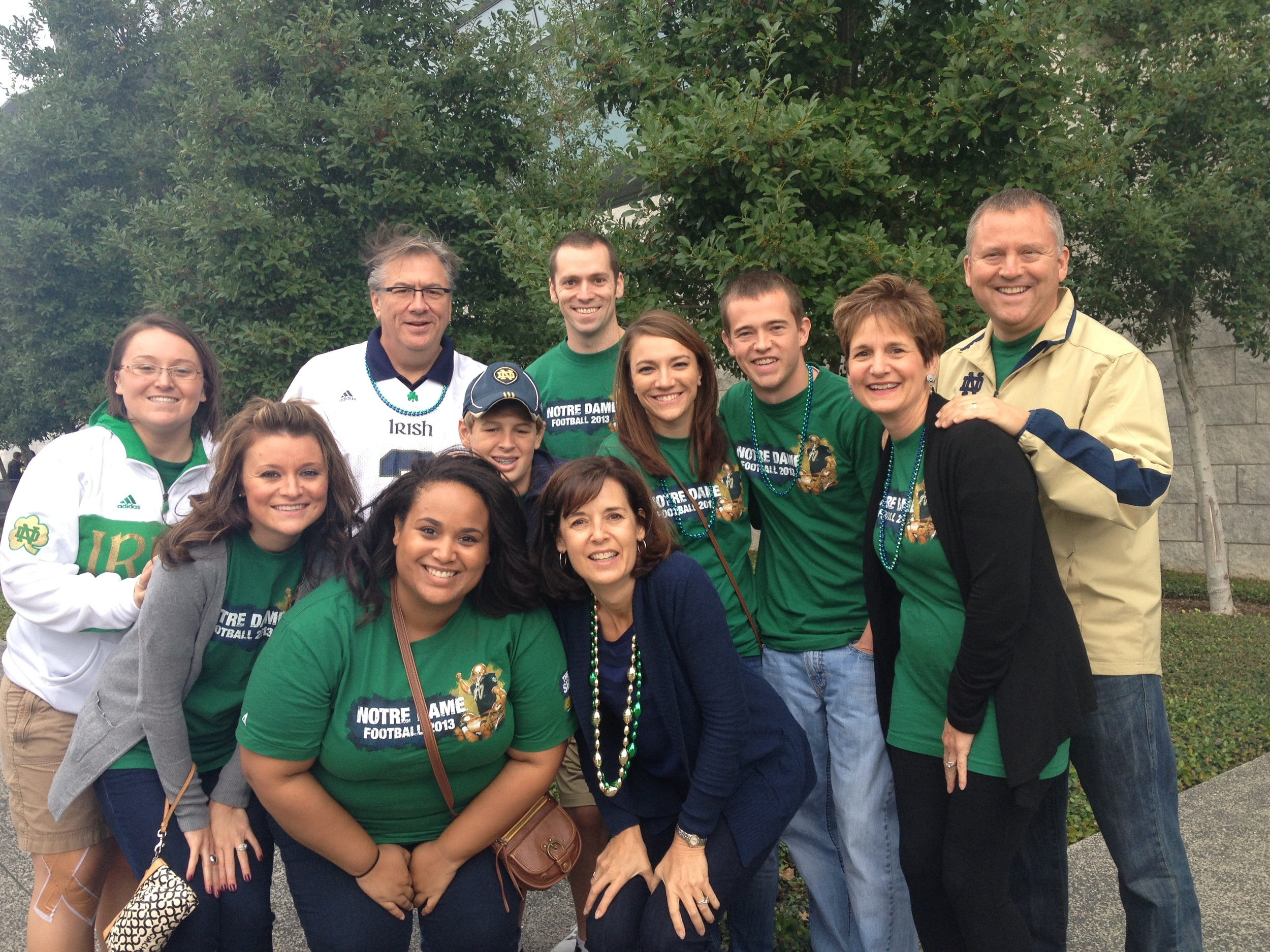 Some of my aunts, uncles and cousins before the ND vs. ASU game. WE WON!