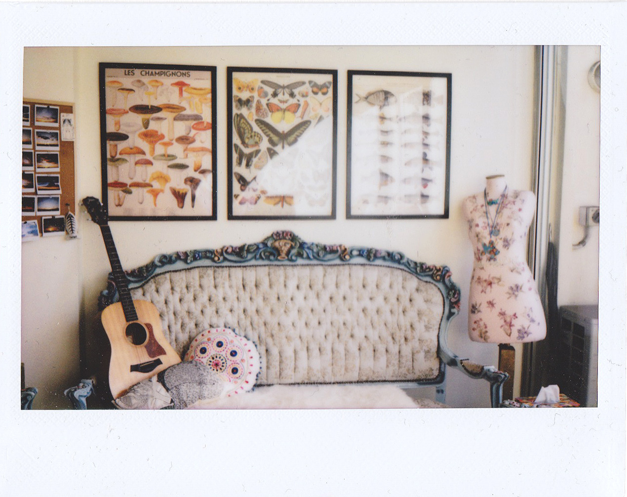 Polaroid of my living room