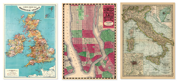 (Cavallini & Co.- Vintage Map Wrapping Paper)