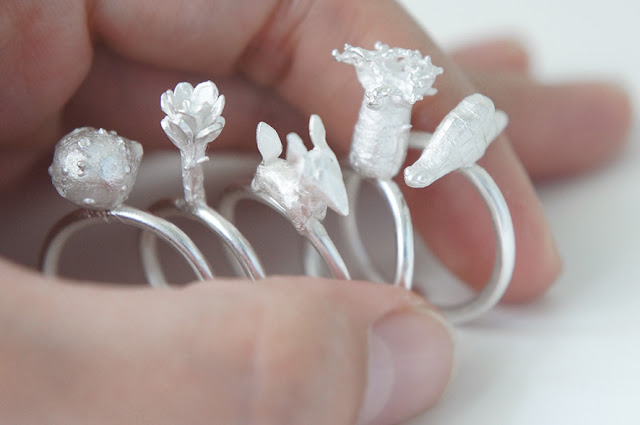 2010,2011 © Gemagenta. // Lorena Martinez-Neustadt. All rights reserved   Infancia rings inspired by Le Petit Prince