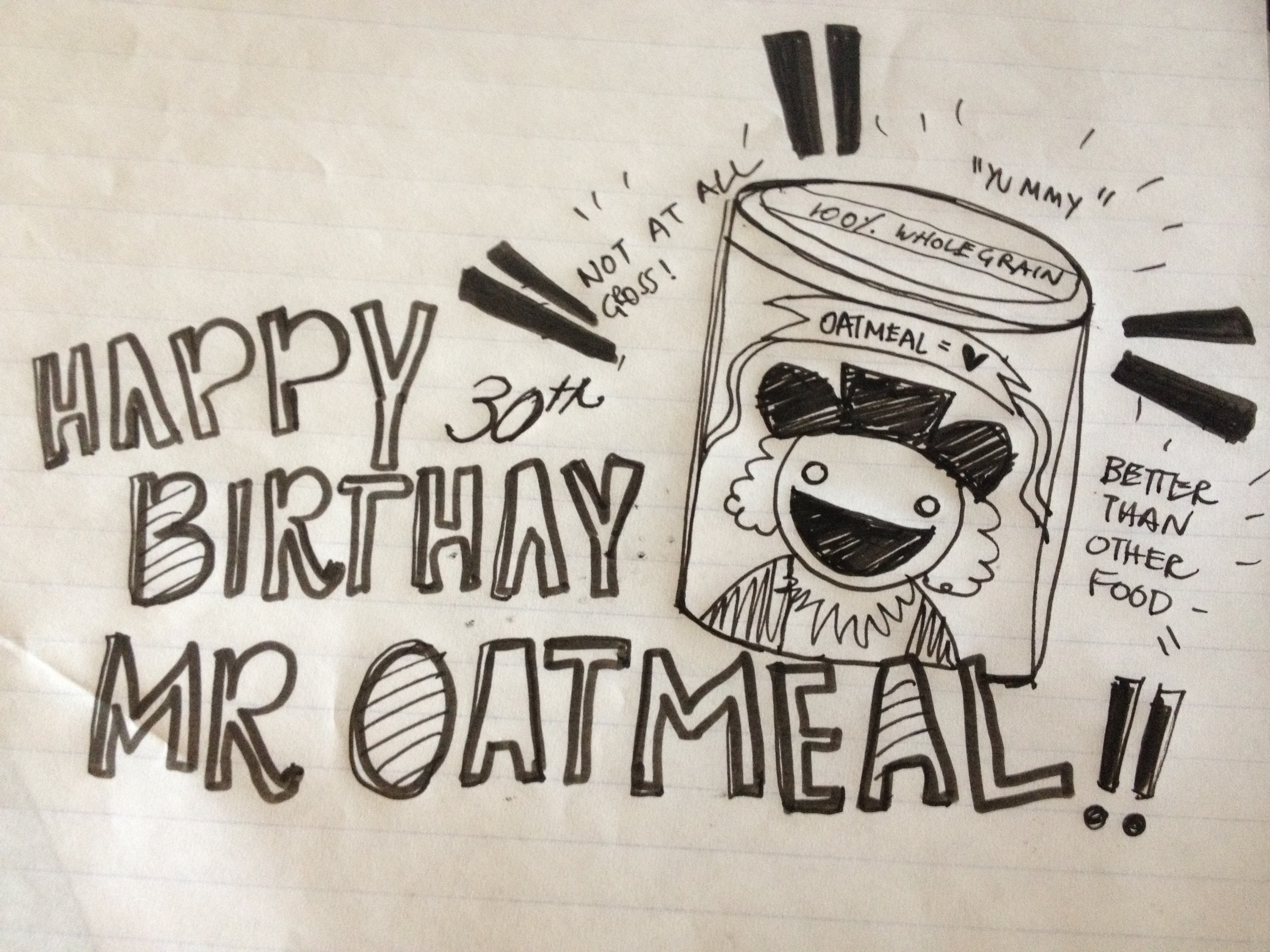 My 1-Month Late Birthday Doodle to The Oatmeal