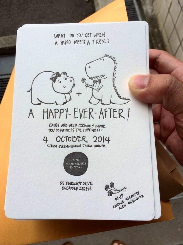 Final Letterpress Invite    Based on original drawings and handwriting