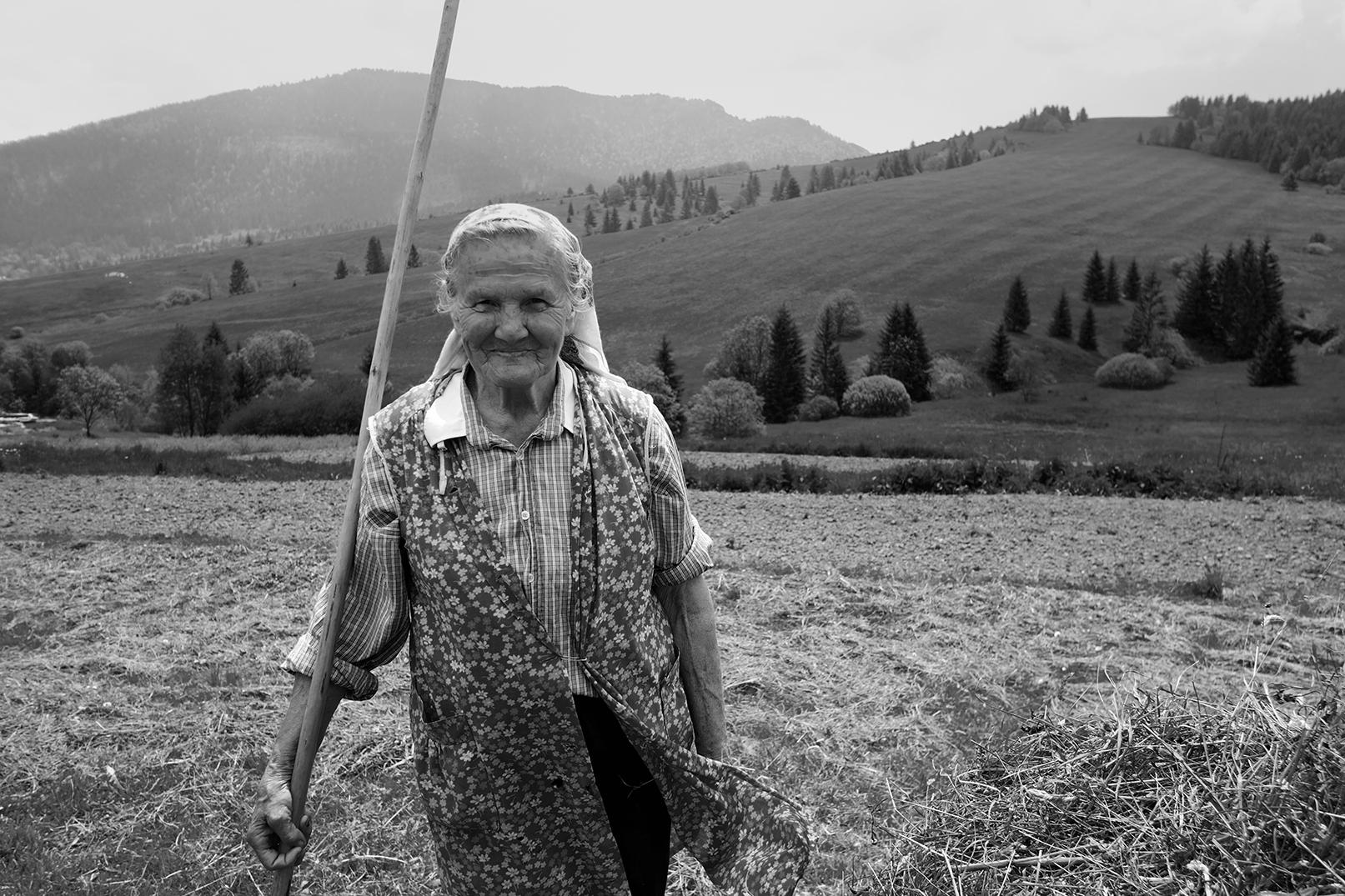 Slovak Woman Working her Field