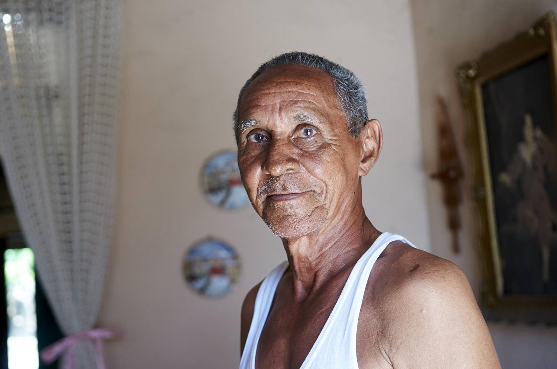 Son of Garcia Marquez's nanny, at his home, Aracataca