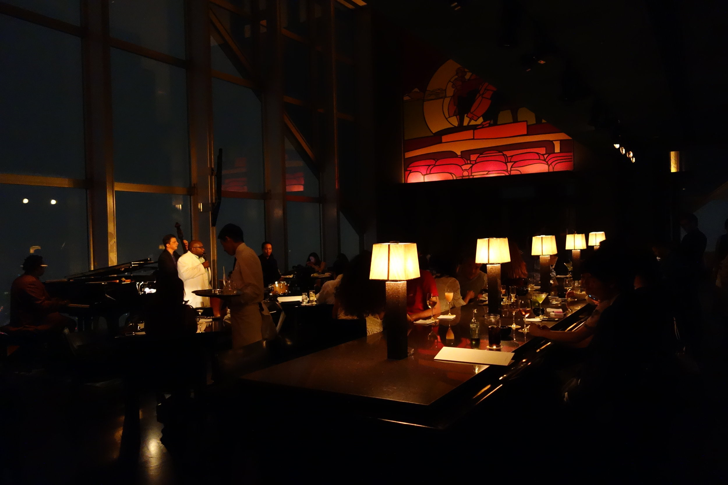 The New York Bar at the Park Hyatt Hotel in Tokyo.