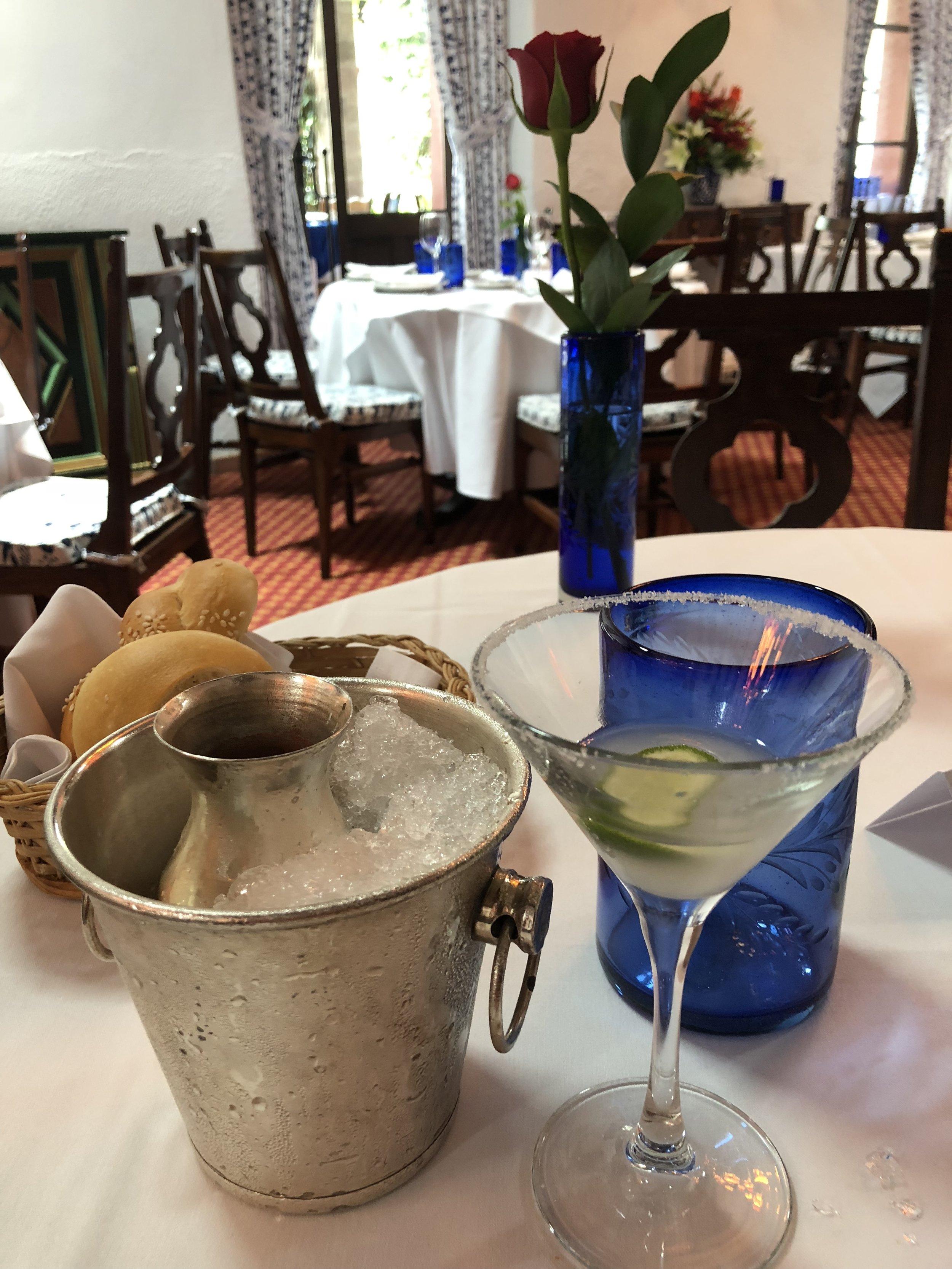 Famous San Angel Inn Margaritas.