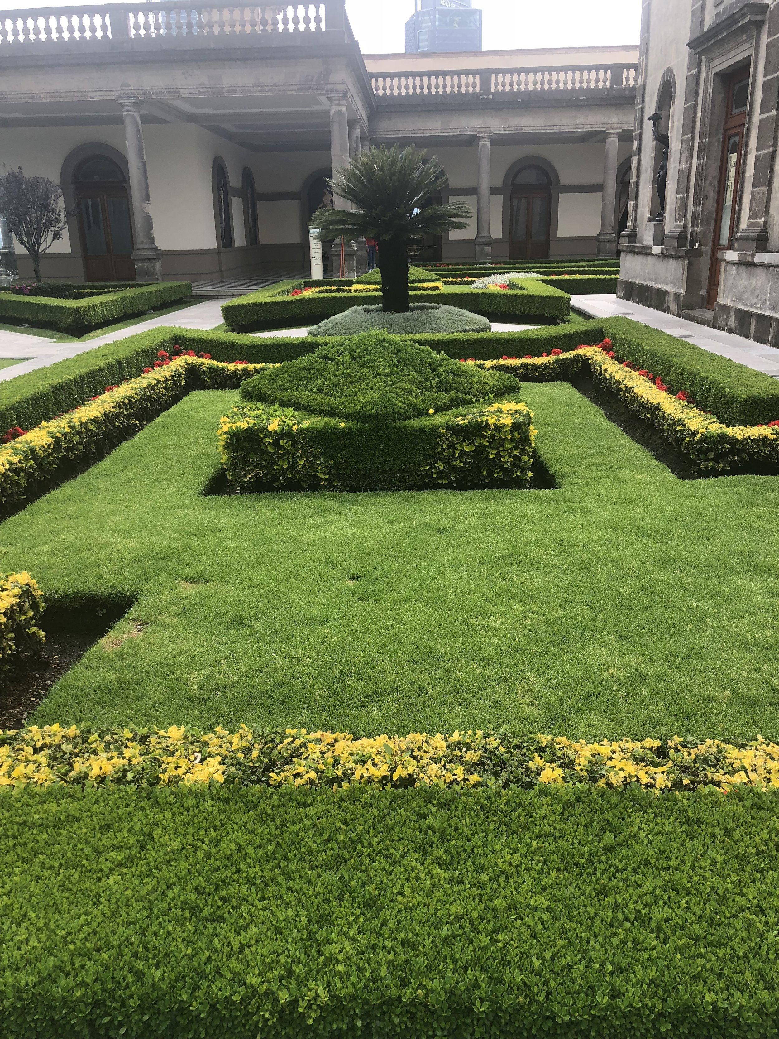Landscaping at Chapultepec Castle.