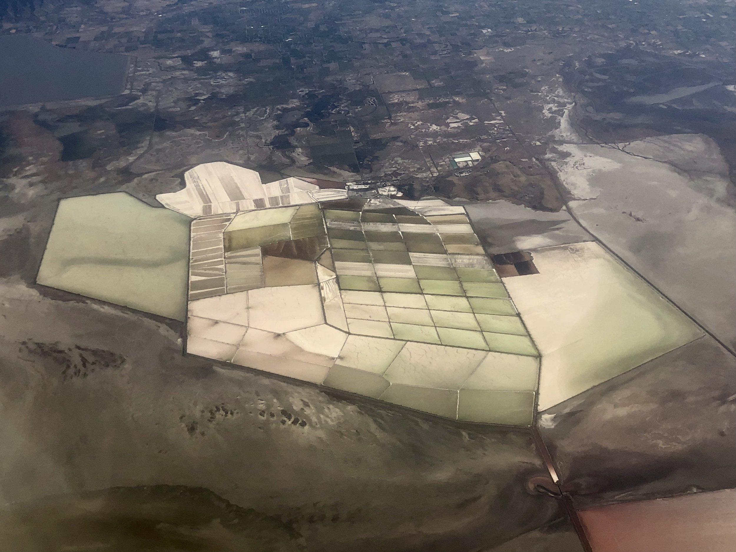 Compass Minerals' Great Salt Lake facility near Ogden, Utah