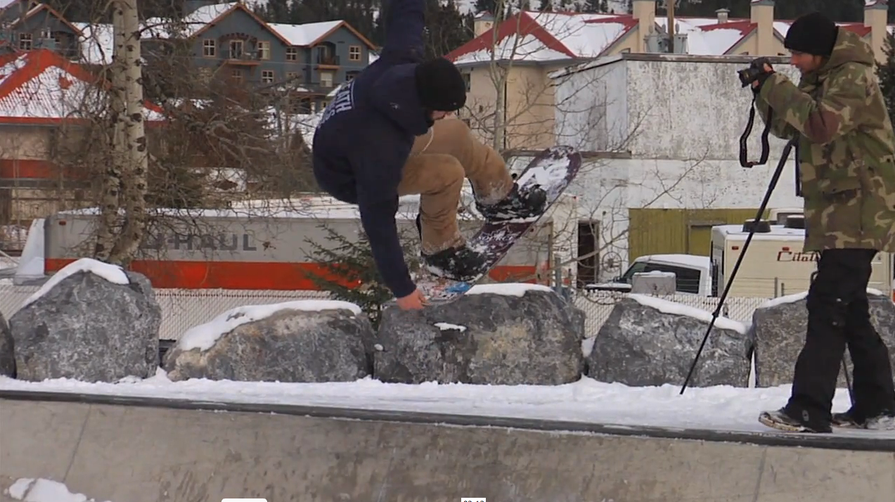 Dwayne Wiebe with a Tail Grab in the bowl.