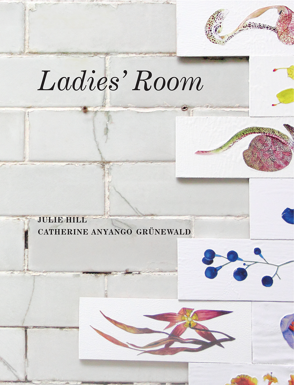- Crying Out Loud: Ladies' Roomexhibition catalogueA site-specific exhibition at The Edwardian Cloakroom, Bristol by artists Julie Hill & Catherine Anyango Grünewald. Together their works in materials such as ceramics, cosmetics, smoke and mirrors usedthe context of the Edwardian Cloakroom as a mise-en-scène setting, drawing attention to the feminine experience as independent, both spatially and intellectually, from the Gents.Featuring essays by Dame Marina Warner, Nella Aarneand Dr Farrah Jarral.Read onlineBuy on Amazon