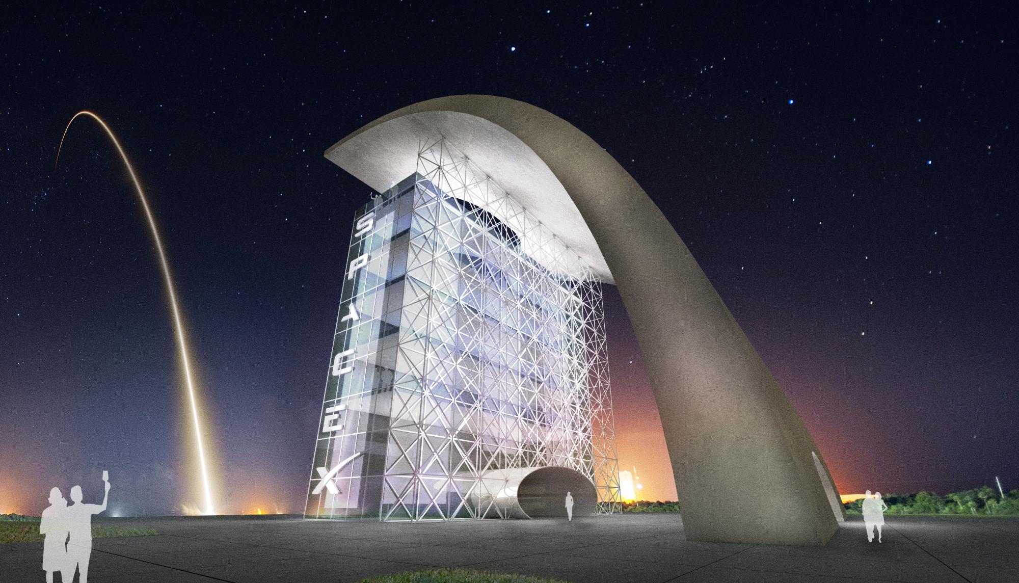 S.E.A.-Studio-Environmental-Architecture-David-Hertz-FAIA-Launch-Facility-Cape-Canaveral-Florida-sustainable-regenerative-restorative-green-design-Spacex-rocket-spaceship-astronaut-cosmos-space-exploration-cosmic-interstellar-tower-cool-rendering-1.jpg