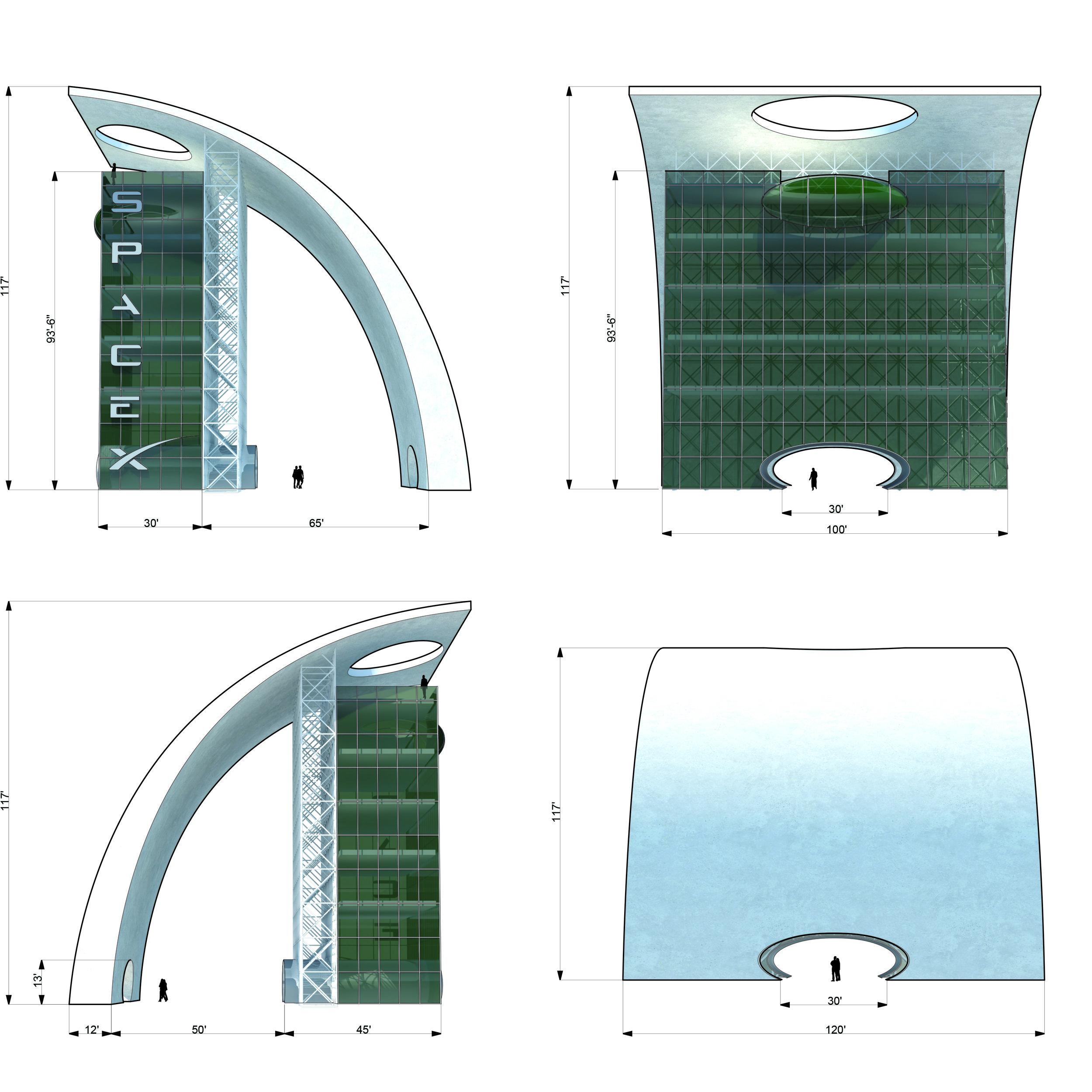 S.E.A.-Studio-Environmental-Architecture-David-Hertz-FAIA-Launch-Facility-Cape-Canaveral-Florida-sustainable-regenerative-restorative-green-design-Spacex-rocket-spaceship-astronaut-cosmos-space-exploration-cosmic-interstellar-tower-cool-elevations.jpg