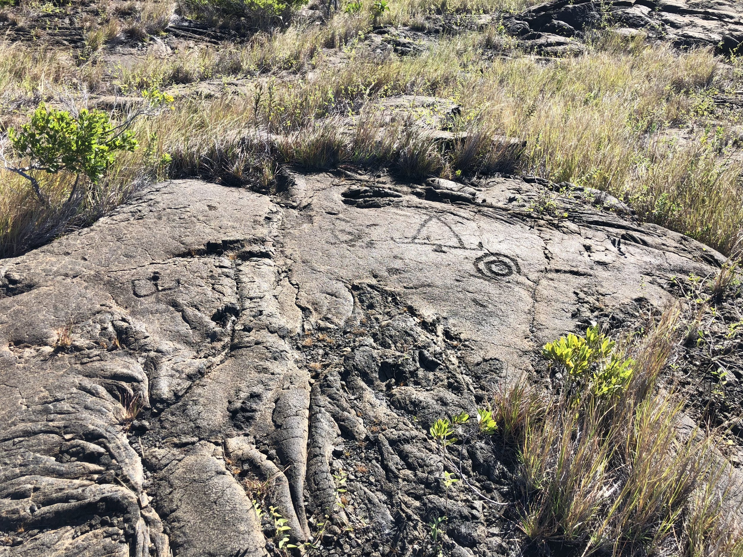 Or you could always try petroglyphs.