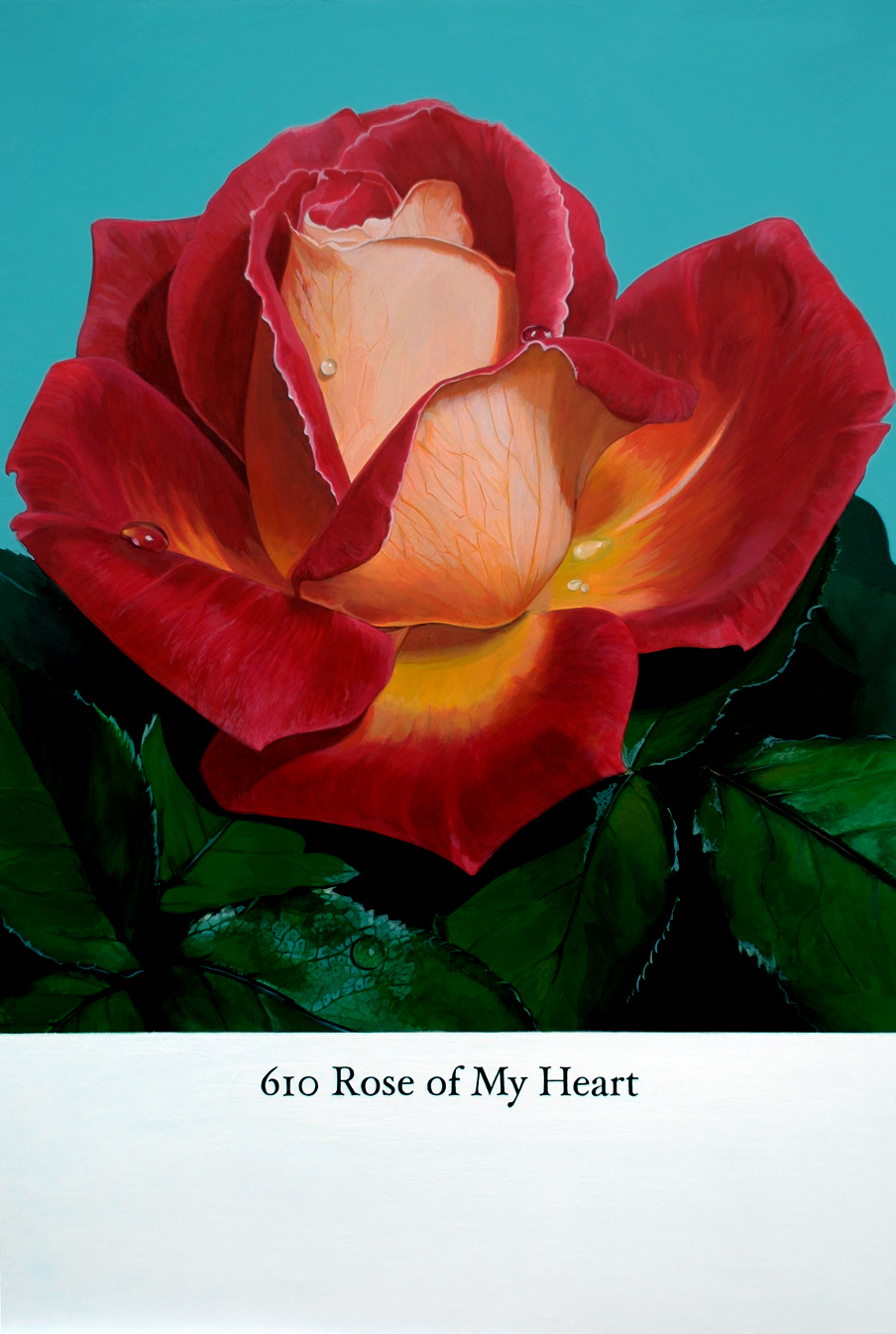 'Rose of My Heart' 2009 - acrylic on board, approx. 40cm x 60cm