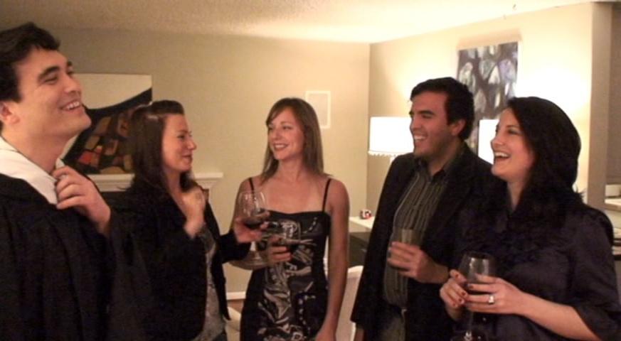 Kirk, Jody, Amy, Humberto, and Lita podcasting in Lake City, Seattle (2009)