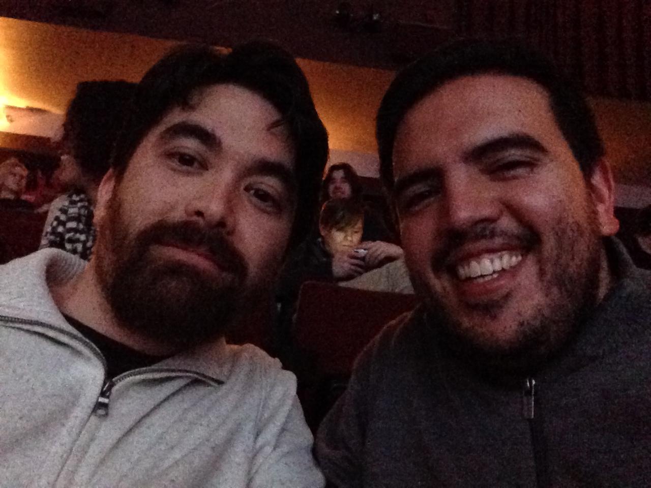 Kirk and Humberto singing movie karaoke in Lower Queen Anne, Seattle (2014)