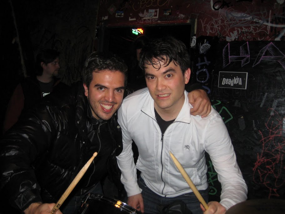 Humberto and Kirk after a Bread Knife Incident show at the Comet on Capital Hill, Seattle (2010)