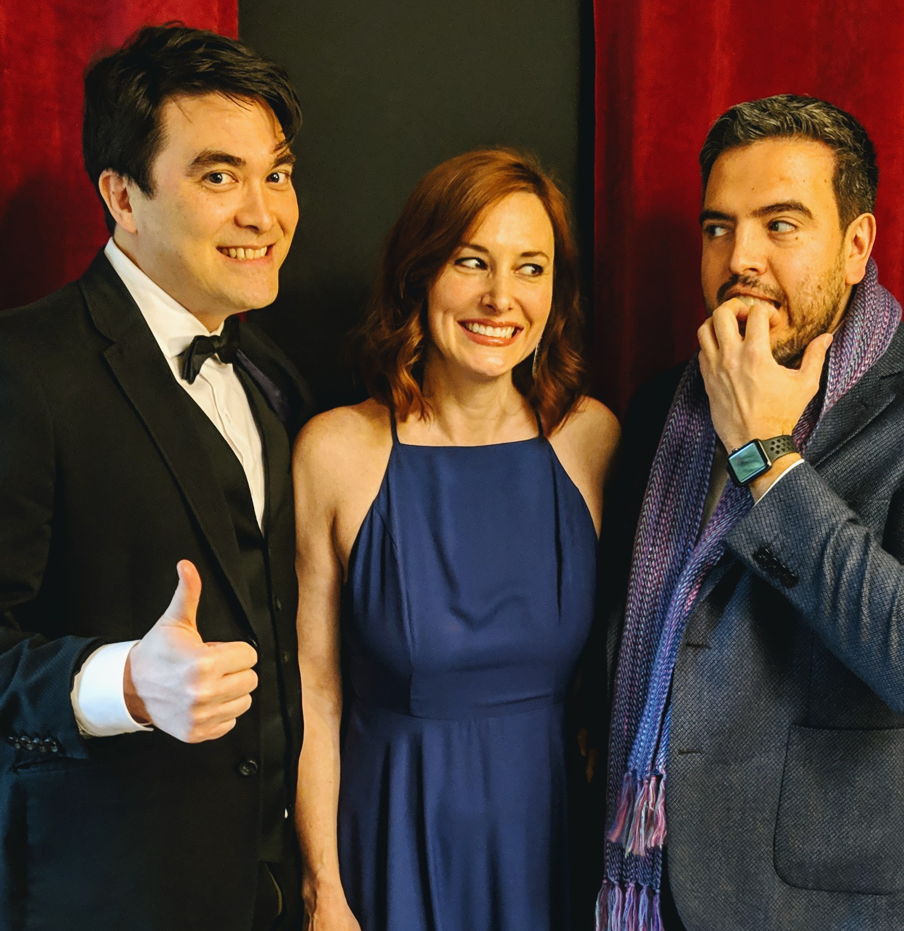 Dr Kirk Honda, Stacy the podcast wife, and Humberto at Oscar Party (2019)