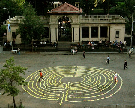 photo of my Labyrinth project  at Union Square Park  1998-2008