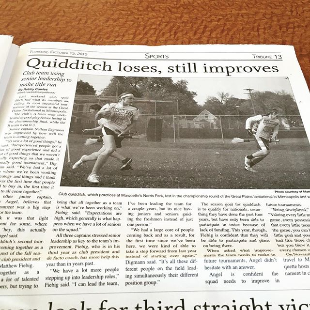 Today in campus sports... This headline in the @marquetteu student newspaper makes me so happy.