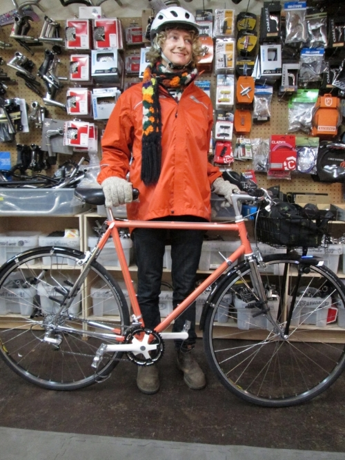 Christy's refurbished Schwinn. She had it repaired, we did the rest. Original Sante drivetrain paired with new, quality components.