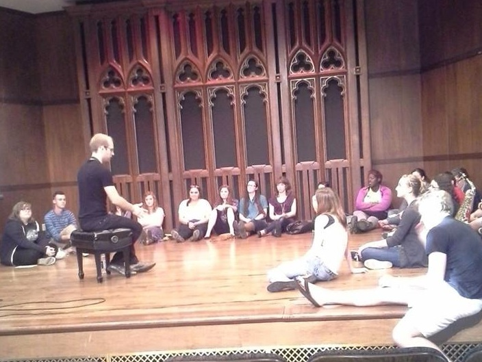 Lecture with Millikin University students