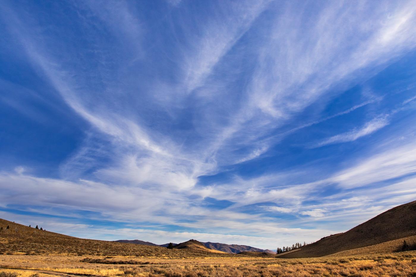 Wide Open Eastern Sierra Valley in Autumn