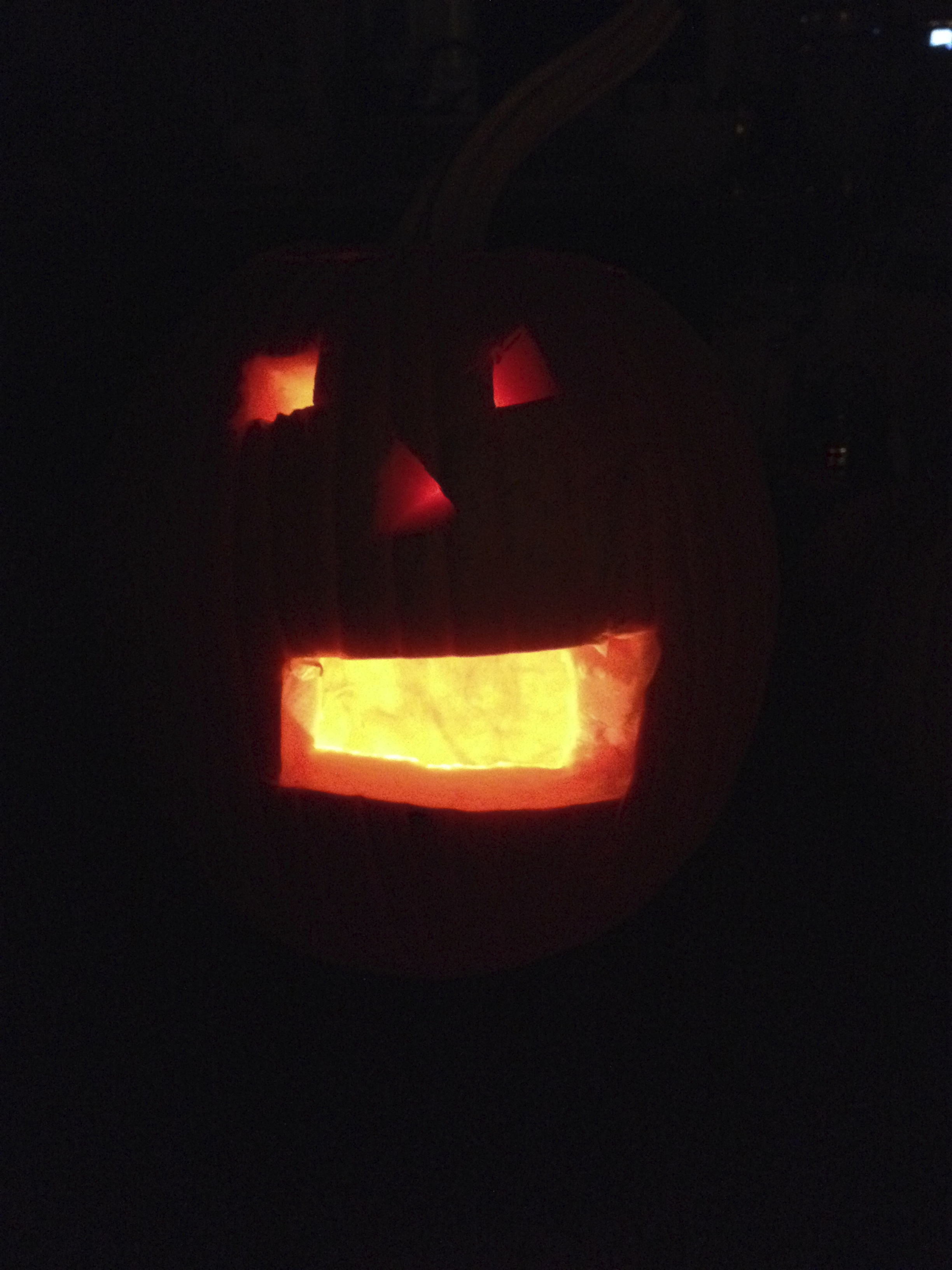 Lola's First Carving