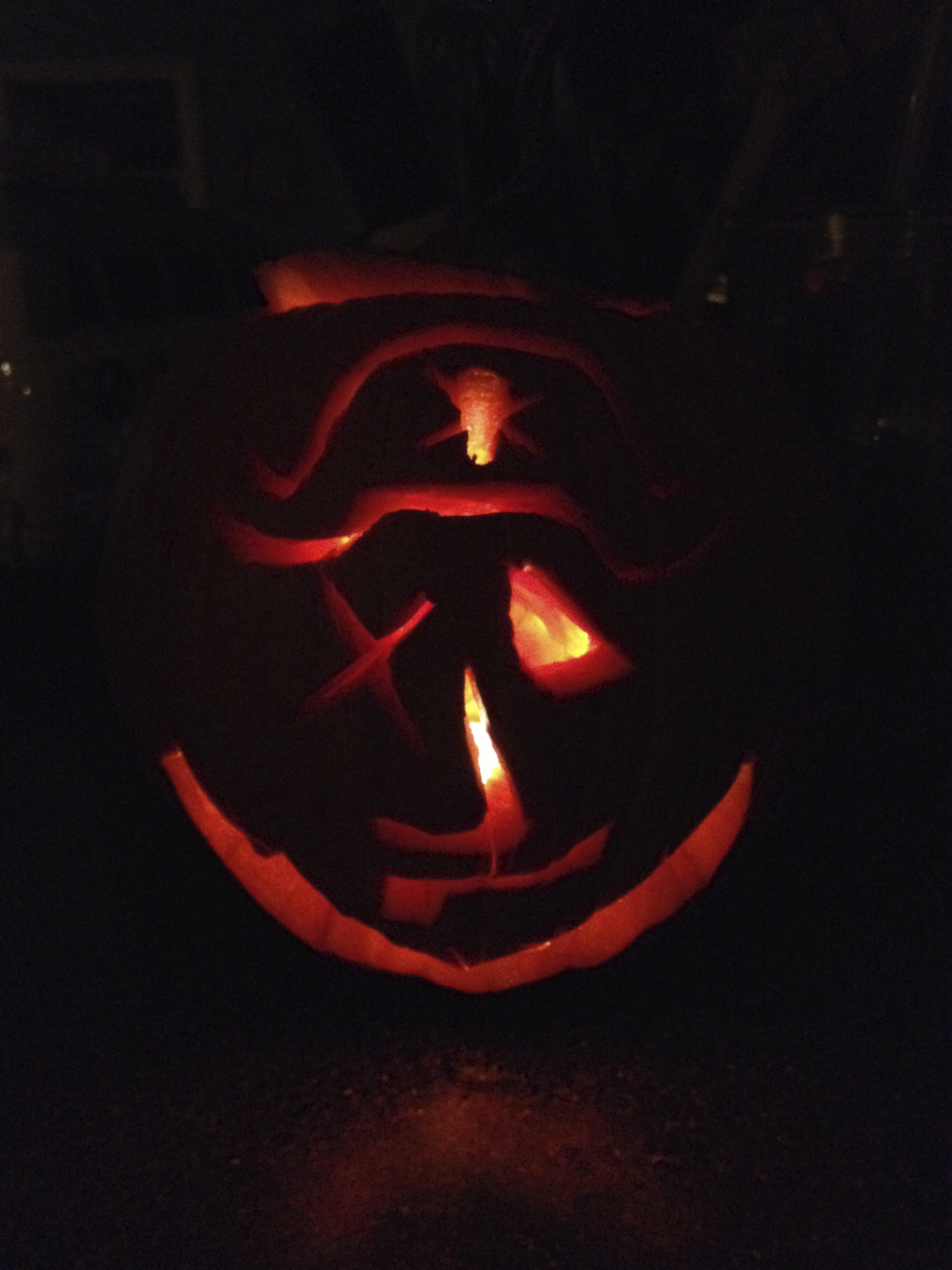 Dad's Pirate Pumpkin
