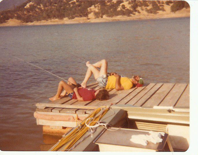Fishing at Lake Berryessa, 1979