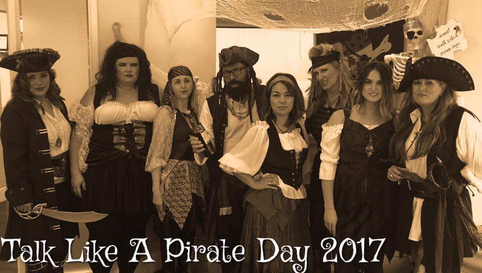 Black Beard and His Crew - Fletcher Dentistry Talk Like A Pirate Day