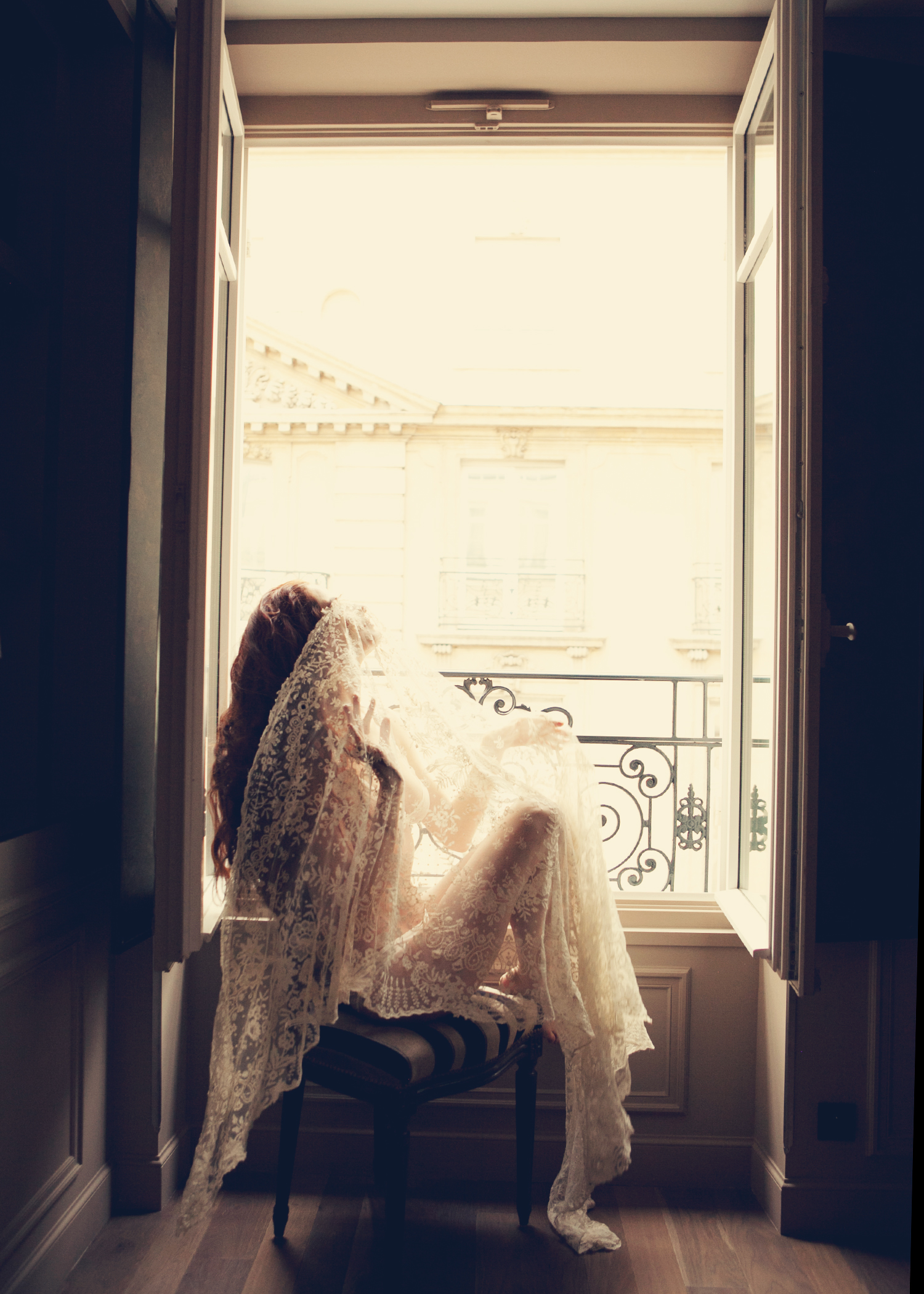 The LANE-Bridal-Editorial-Paris-Karissa-Fanning-Lauren-Ross-vintage-lace-veil.jpg